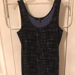 Bodycon black and lavender dress